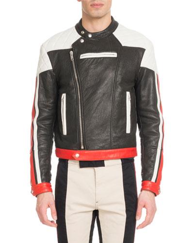 Men's Leather Motocross Jacket