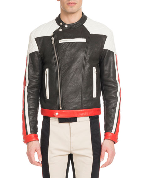 Givenchy Men's Leather Motocross Jacket