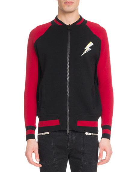 Givenchy Men's Lightning Zip-Front Jacket