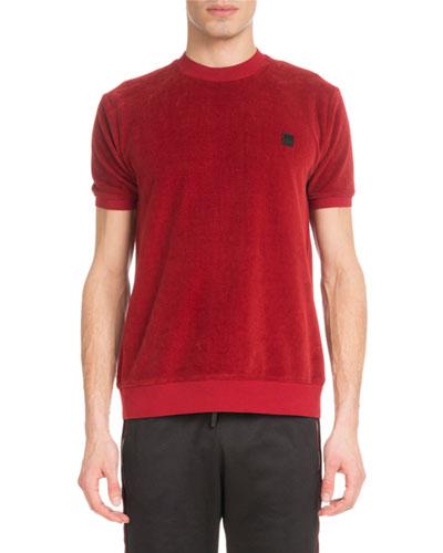 Men's Velour Crewneck T-Shirt