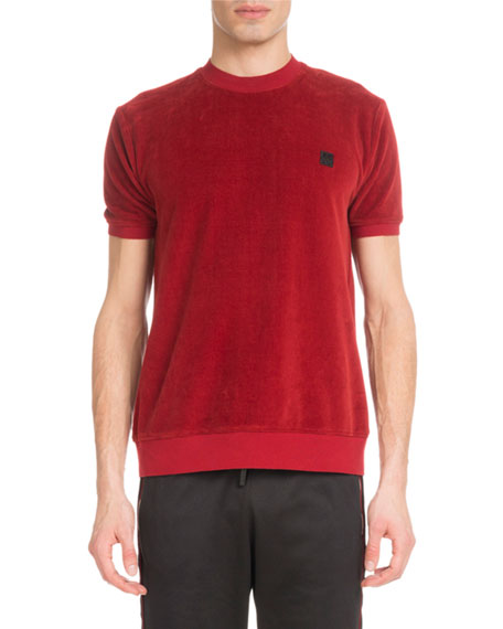 Men's Velour Crewneck T-Shirt