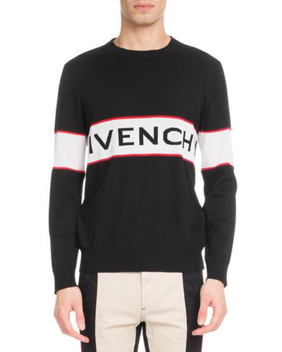 Men's Bar Logo Light Wool Sweater