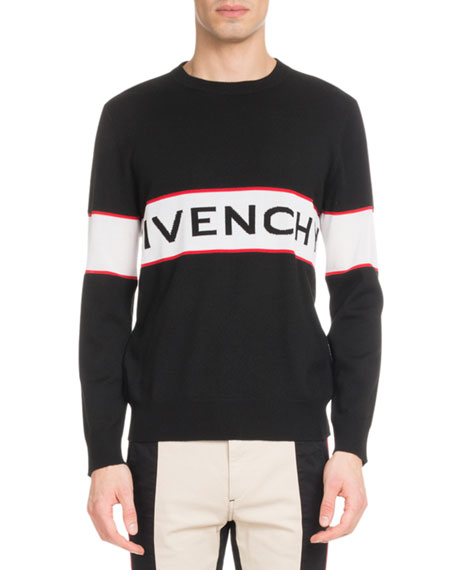 Men's Bar Logo Light Wool Sweater