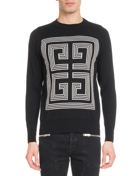 Givenchy Men's 4G Logo Intarsia Wool Sweater