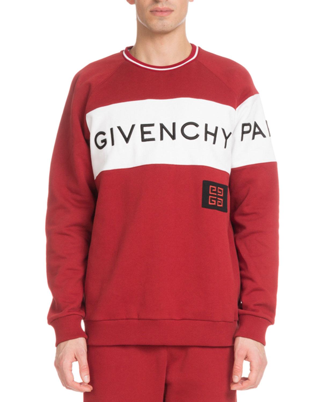 a941189f555e Givenchy Men s Large Logo Crewneck Sweatshirt