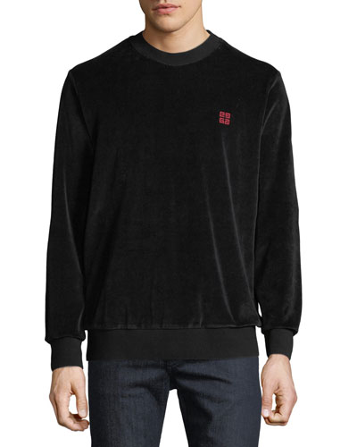 Men's Velvet Crewneck Sweatshirt