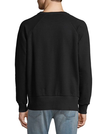 Men's Distressed Logo Crewneck Sweatshirt