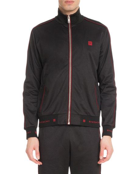 Men's 4G Logo Track Jacket with Velvet Piping