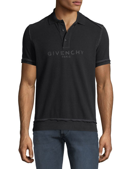Men's Tonal Logo Cotton Polo Shirt