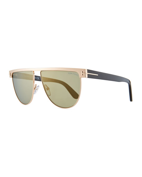 TOM FORD Men's Stephanie Metal Sunglasses