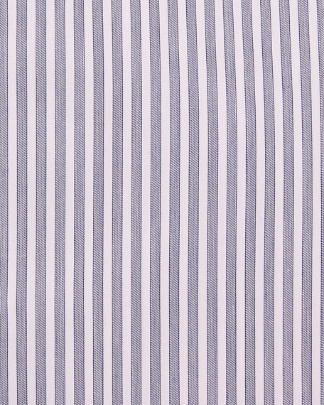Men's Contemporary Fit Striped Dress Shirt