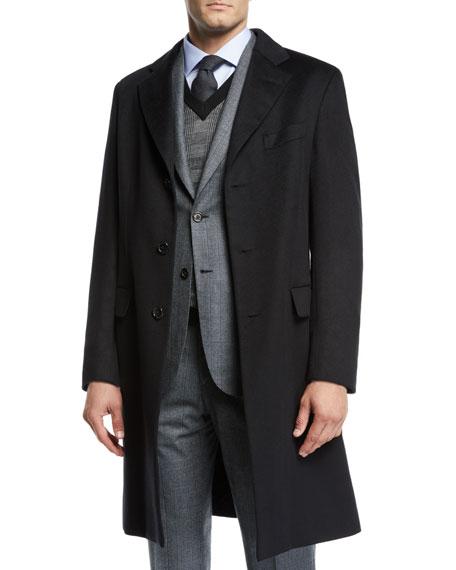 BRIONI Men'S Cashmere Car Coat in Black