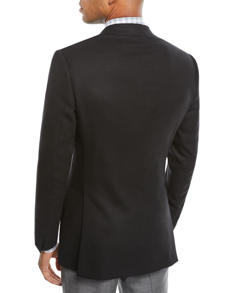 Men's Two-Button Wool Twill Blazer