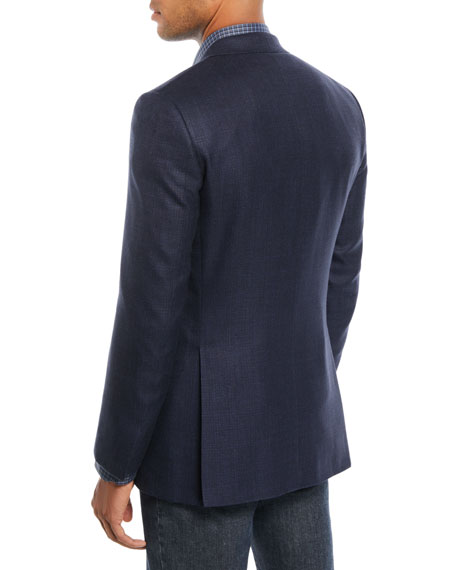 Men's Textured Wool-Blend Blazer