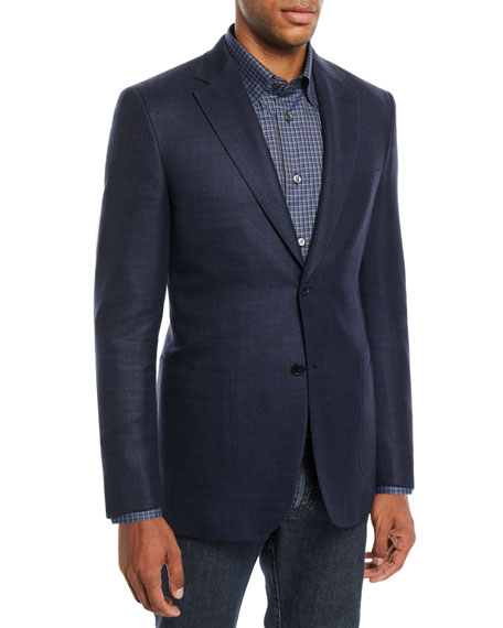 Brioni Men's Textured Wool-Blend Blazer