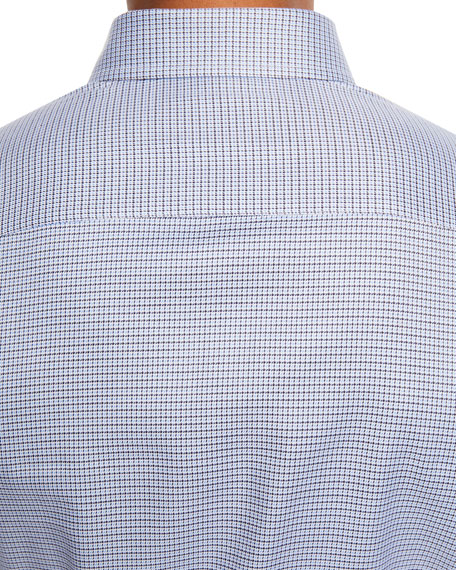 Men's Mini Check Cotton Sport Shirt