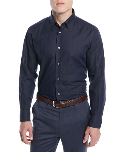 Men's Textured Cotton Sport Shirt