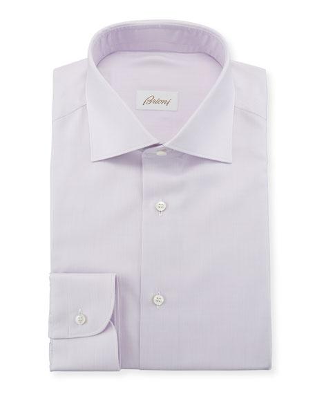 Men's Solid Cotton/Silk Dress Shirt