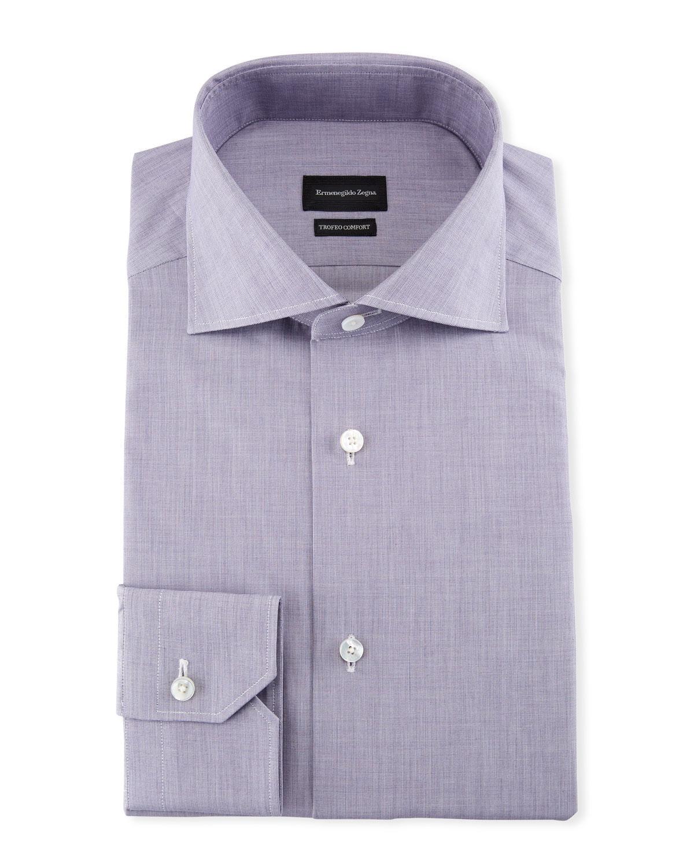 Ermenegildo Zegna Mens Trofeo Comfort Dress Shirt Neiman Marcus