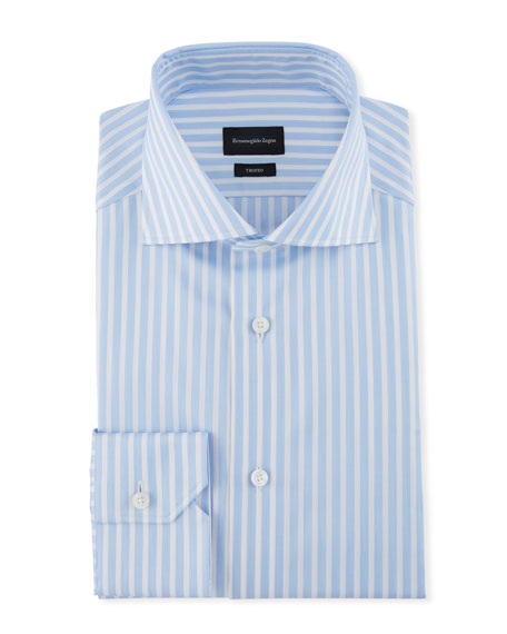 Ermenegildo Zegna Men's Wide Stripe Dress Shirt