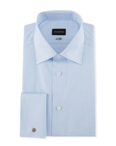Men's 100Fili Tonal Striped Dress Shirt