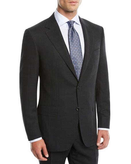Canali Men's Impeccabile Nailhead Windowpane Two-Piece Wool Suit