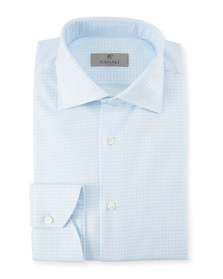 Men's Gingham Cotton Dress Shirt