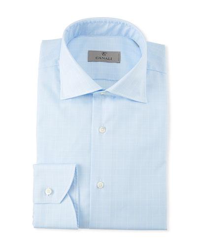 Men's Glen Plaid Cotton Dress Shirt