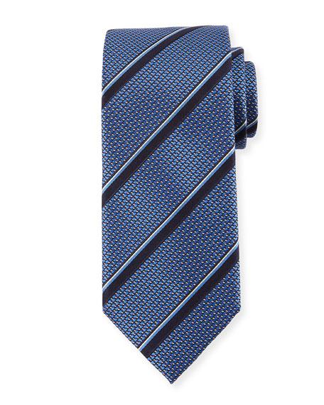 Canali Jacquard Stripe Silk Tie