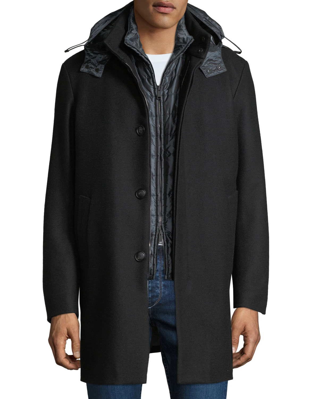 992618022461 Emporio Armani Men s 3-in-1 Wool Car Coat w  Vest