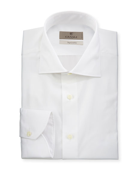 Men's Impeccabile Solid Dress Shirt, White