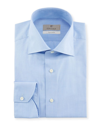 Men's Impeccabile Solid Dress Shirt, Blue