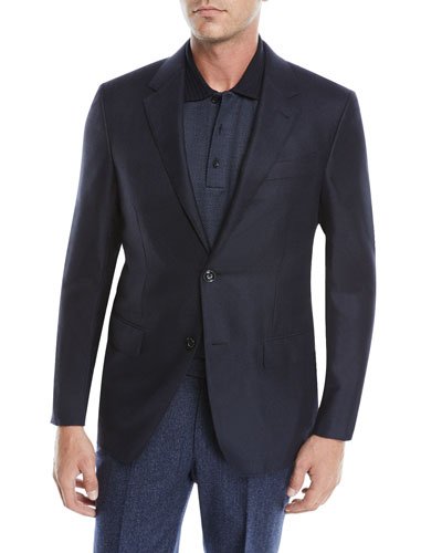 Men's Two-Button Cashmere-Silk Jacket