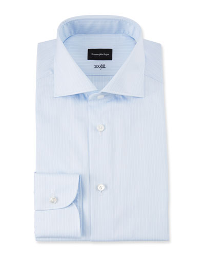 Men's 100fili Micro-Stripe Dress Shirt