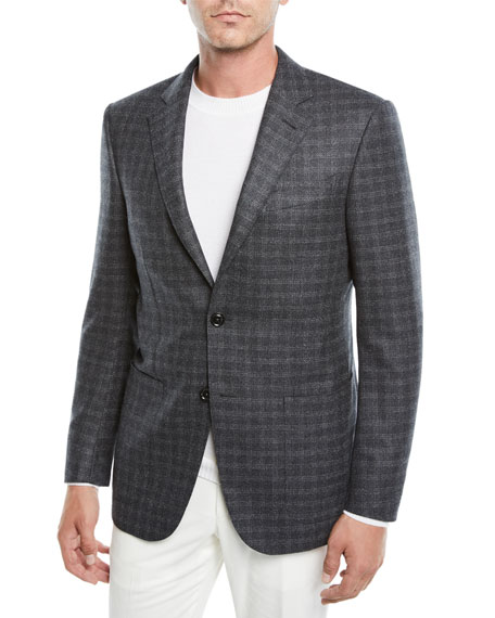 Ermenegildo Zegna Men's Graph Check Two-Button Jacket