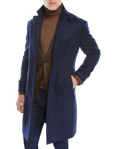 Men's Peak-Collar Cashmere Topcoat