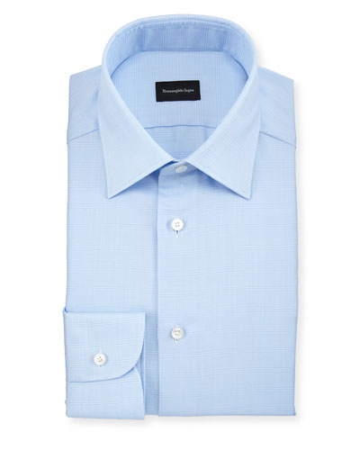 Men's Tonal Plaid Dress Shirt