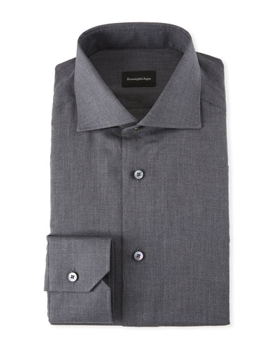 Men's Heathered Twill Dress Shirt