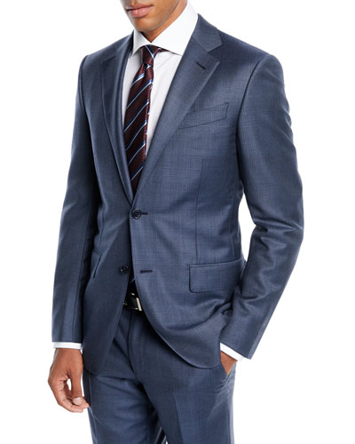 Men's Tonal Plaid Two-Piece Wool Suit