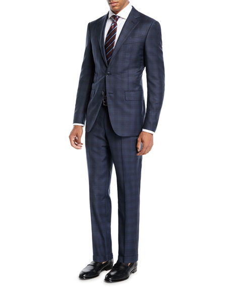 Men's Trofeo® Wool Plaid Two-Piece Suit