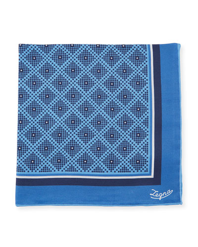 Diamonds Silk Pocket Square