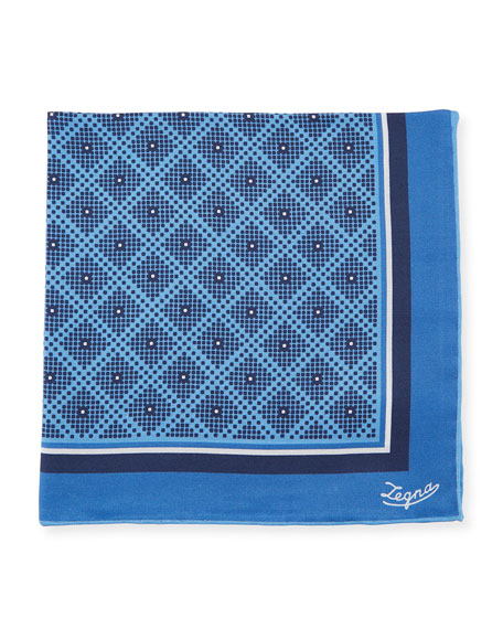 Ermenegildo Zegna Diamonds Silk Pocket Square