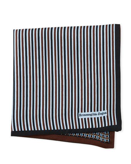 Ermenegildo Zegna Reversible 3D Box Silk Pocket Square