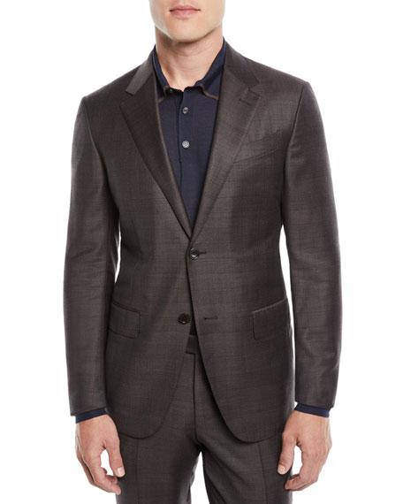 Ermenegildo Zegna Men's Check Wool Two-Piece Suit