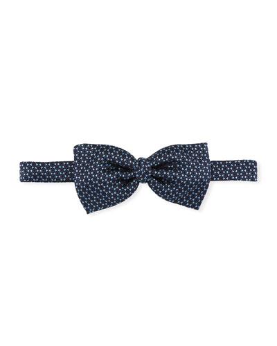 Hexagons Silk Bow Tie