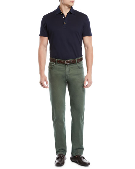 Men's Denim Five-Pocket Jeans, Green