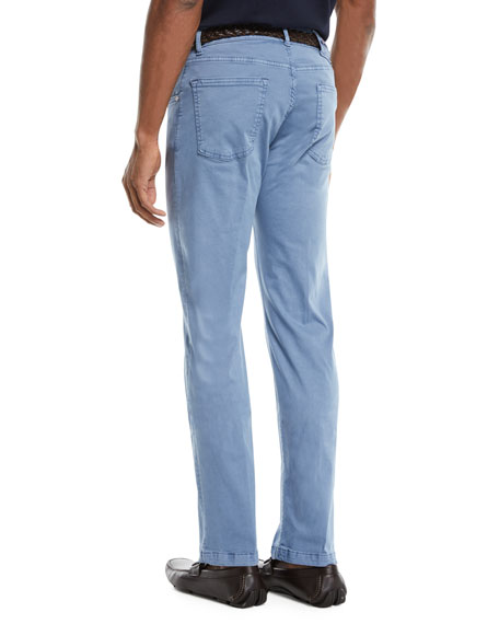Men's Straight-Leg Twill Pants