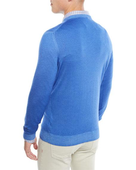 Men's Washed Cashmere V-Neck Sweater