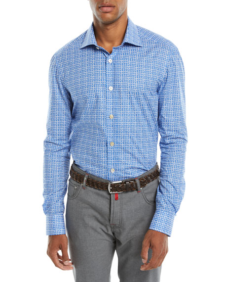 Kiton Men's Houndstooth Sport Shirt