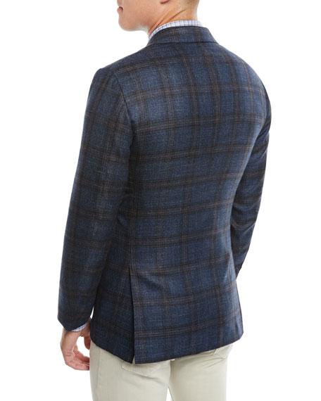 Men's Plaid Cashmere-Blend Sport Coat